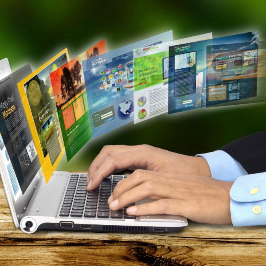 Internet Concept on Laptop